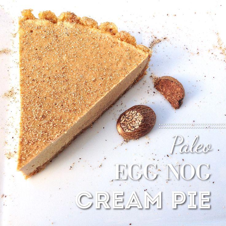 Paleo Eggnog Cream Pie up on the blog #organic #organicfood #nongmo # ...