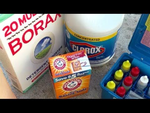 The BBB method - Using Bleach, Baking Soda & Borax to Maintain Your Swim...