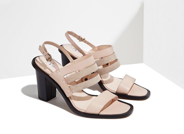 Sandalia bicolor de tacón - DÍA DE LA MADRE | Adolfo Dominguez shop online