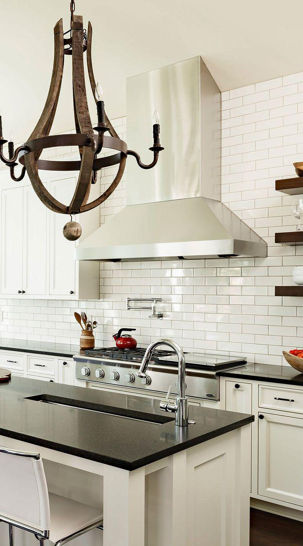 50+ Black Countertop Backsplash Ideas (Tile Designs, Tips ... on Backsplash Ideas For Black Countertops  id=65834