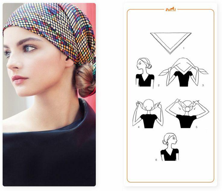 noeud foulard chignon