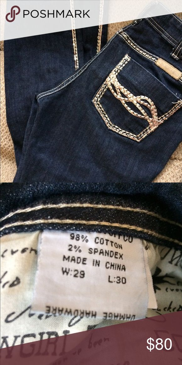 Cowgirl Tuff Jeans Says sizes in picture. In amazing condition still not even broken in. Very expensive jeans for a nice price Cowgirl Tuff Jeans Ankle & Cropped
