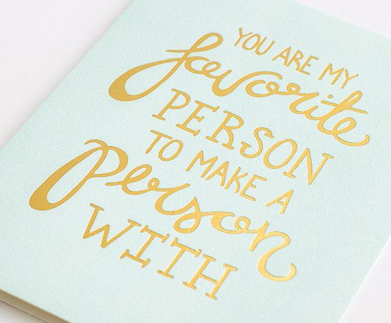 Gold Foil Press Mother's or Father's Day Card by laLagracepaper