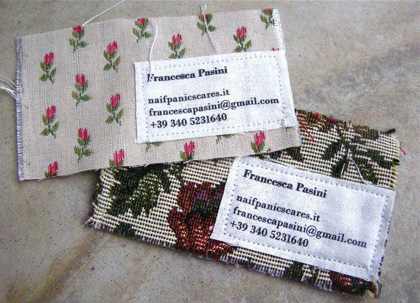26 best creative alternatives to business cards images on pinterest fabric business cards reheart Choice Image