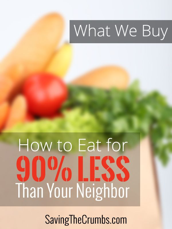 How to Eat for 90% Less Than Your Neighbor: What We Buy
