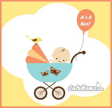 Its A Girl Baby Carriage Graphic plus many other high quality Graphics for your Facebook profile at CafeMoms.com.