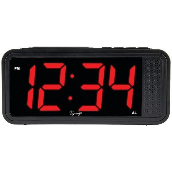 Equity by La Crosse 75907 Quick-Set LED Alarm Clock
