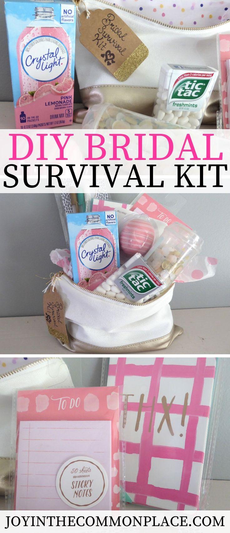 How To Arrange A Bridal Survival Kit Bridal Survival Kit Diy Bridal Shower Gifts Bridal Shower Gifts For Bride