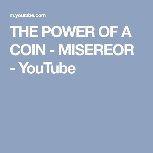 THE POWER OF A COIN - MISEREOR - YouTube