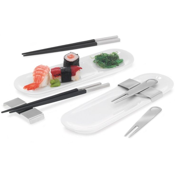 Zestaw do sushi dla 2 osób - BLOMUS - DECO Salon. 8-piece sushi for 2 people. This product is winning design awards: iF Product Design Award 2011 and Good Design Award. #fathersday #giftidea #sushi