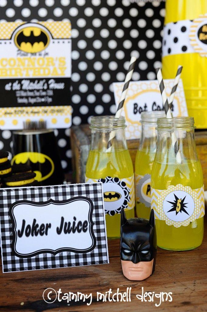 Boy Parties: SuperHero Party: Batman Party Ideas - Pink Peppermint Design