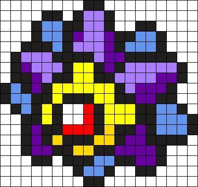 Starmie Pokemon Bead Pattern Perler Bead Pattern / Bead Sprite