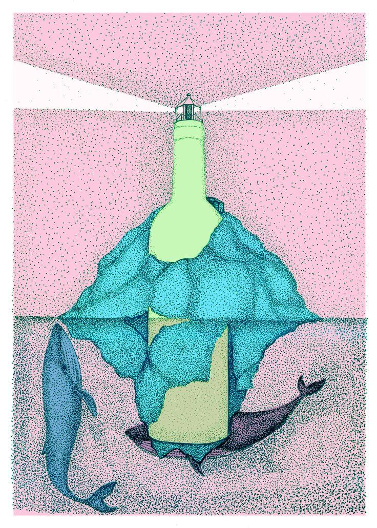 illustration for terras gauda graphic design competition