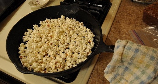 Cast Iron Recipes: Cast Iron Cookware, Iron Cooking, Iron Popcorn, Cast Iron Recipes, Cast Iron Skillet, Movie Nights, Saturday Night, Iron Skillets, Camps Food