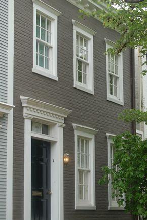 Taupe Painted Brick House | Meer dan 1000 ideeën over Buitenkant Huis Verven op Pinterest - Huis ...
