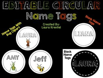 Editable Student Name Tag Labels:  These circular student name tag labels will help you organize and keep your classroom running efficiently and smoothly!