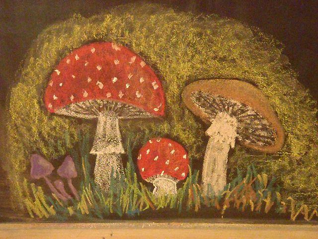 autumn chalkboard drawing