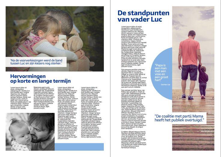 Een leuk idee voor Vaderdag: een vaderdagkrant - een zelfgemaakt, persoonlijk en origineel cadeau. Deze krant werd gemaakt in het thema 'de vaderverkiezingen'.