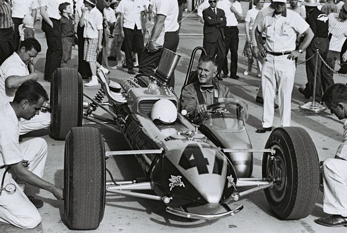 1964 Indianapolis 500 and the Smokey Yunick built Hurst Floor Shift Special race car.