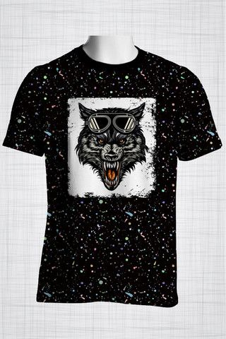Plus Size Men's Clothing Wolf t-shirt  Wild Grunge Collection - Plus size men's clothing Fabric for this t-shirt is a lightweight polyester cotton fabric that,  * absorbs moisture  * transfers body perspiration away from the skin  * breathable and lightweight * tear resistant  * shrink resistant * quick drying  * comfortable