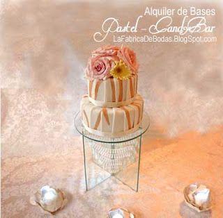Alquiler base para pastel chandelier Guatemala