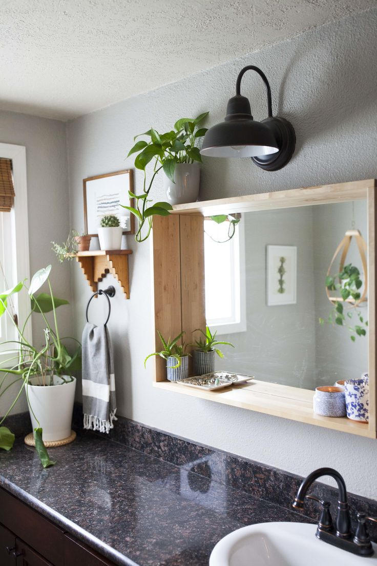 Bathroom mirrors winnipeg - Fearless Diyers In A Flipped Portland House Bathroom Flooringbathroom Mirrorsmaster