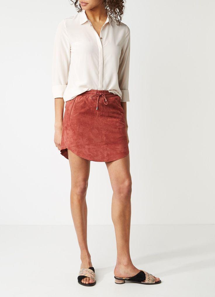 Second Female Murphy blouse van zijde met blinde knoopsluiting • de Bijenkorf
