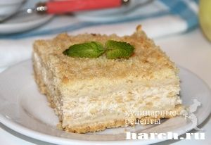Насыпной пирог с яблоками и творогом, sladkaya vypechka i deserty pirozhki pirogi