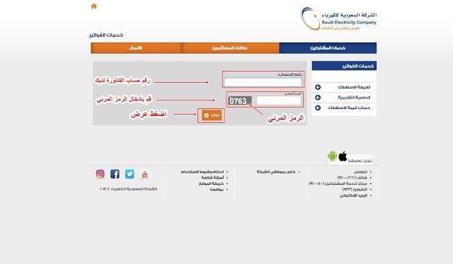 طريقة الاستعلام عن فاتوره الكهرباء في السعودية Chart Bar Chart