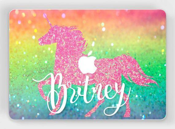 Glitter Unicorn MacBook decal Custom MacBook 15 inch skin MacBook Pro 2017 Retina 13 Mac Book Air cover 11 12 Vinyl sticker A1990 2018 A1932