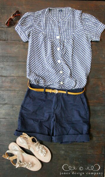 shorts, blouse outfit @ Jones Design Company