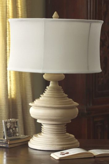 Edimbourg lamp vessel lamp antique white resin soft surroundings