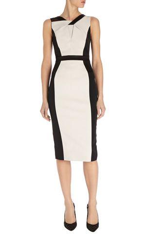Colourblock shift dress