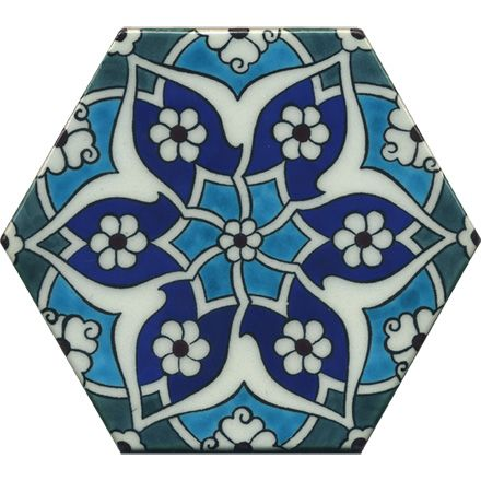 Iznik Hexagon Tiles T001