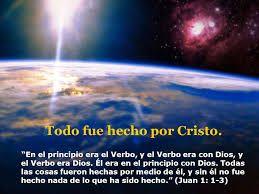 LA BIBLIA DICE: En el principio siempre fue el Verbo, y el Verbo s...