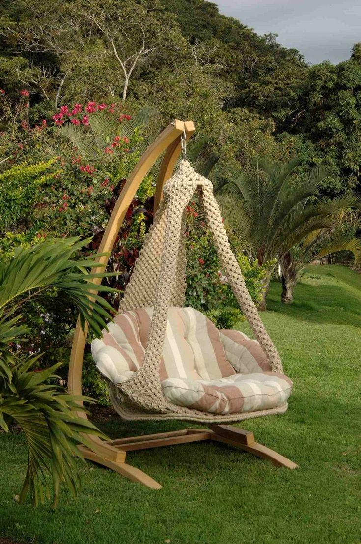 sillón colgante ideas para el jardín