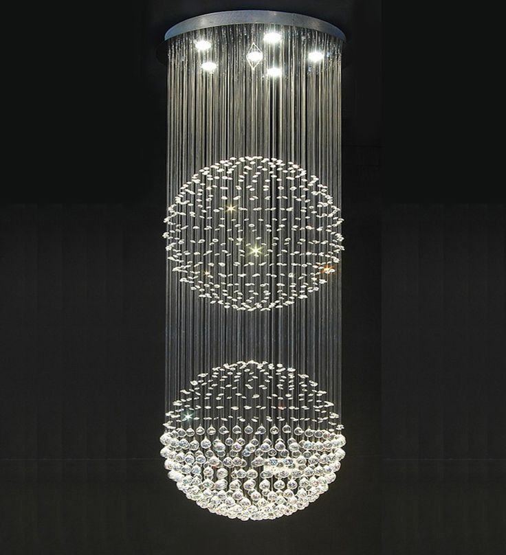 Double Floating Crystal Ball Chandelier