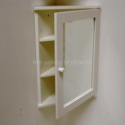 White mirrored corner cabinet 2 shelves wooden ikea Corner bathroom cabinet mirror ikea