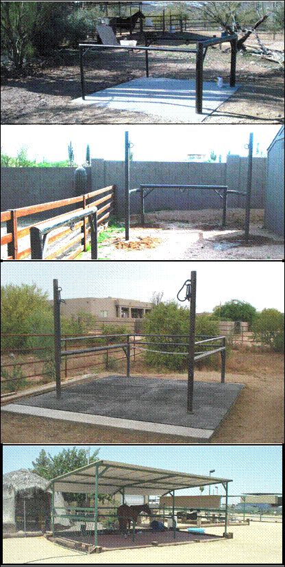 Wash Racks | Grooming Stalls | Cross Ties | Hitching Posts | AZ Stall Pros