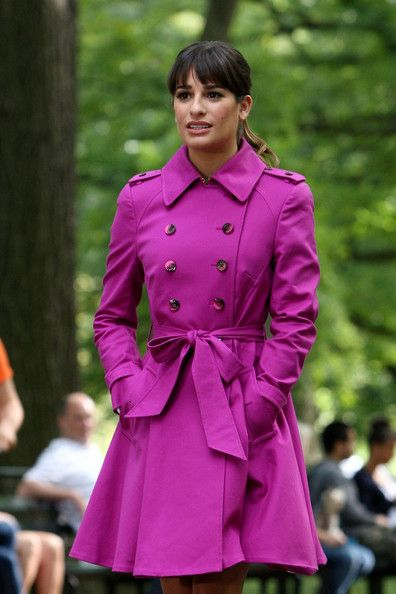 Lea Michele - Lea Michele Spotted on the 'Glee' Set