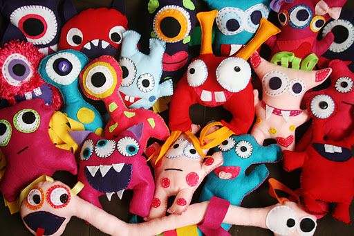And Everything Sweet: Monster Bash - Felt monsters