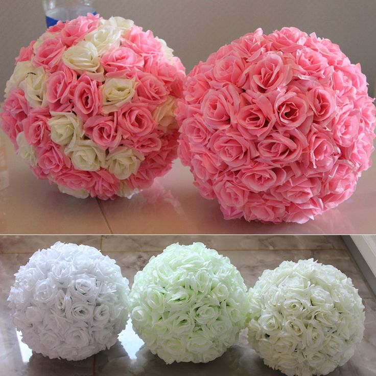 diameter 20cm Artificial Flower Silk Rose Ball For Wedding Mariage party  Christmas diy Decoration Home Decor Supplies-in Decorative Flowers & Wreaths from Home & Garden on Aliexpress.com | Alibaba Group