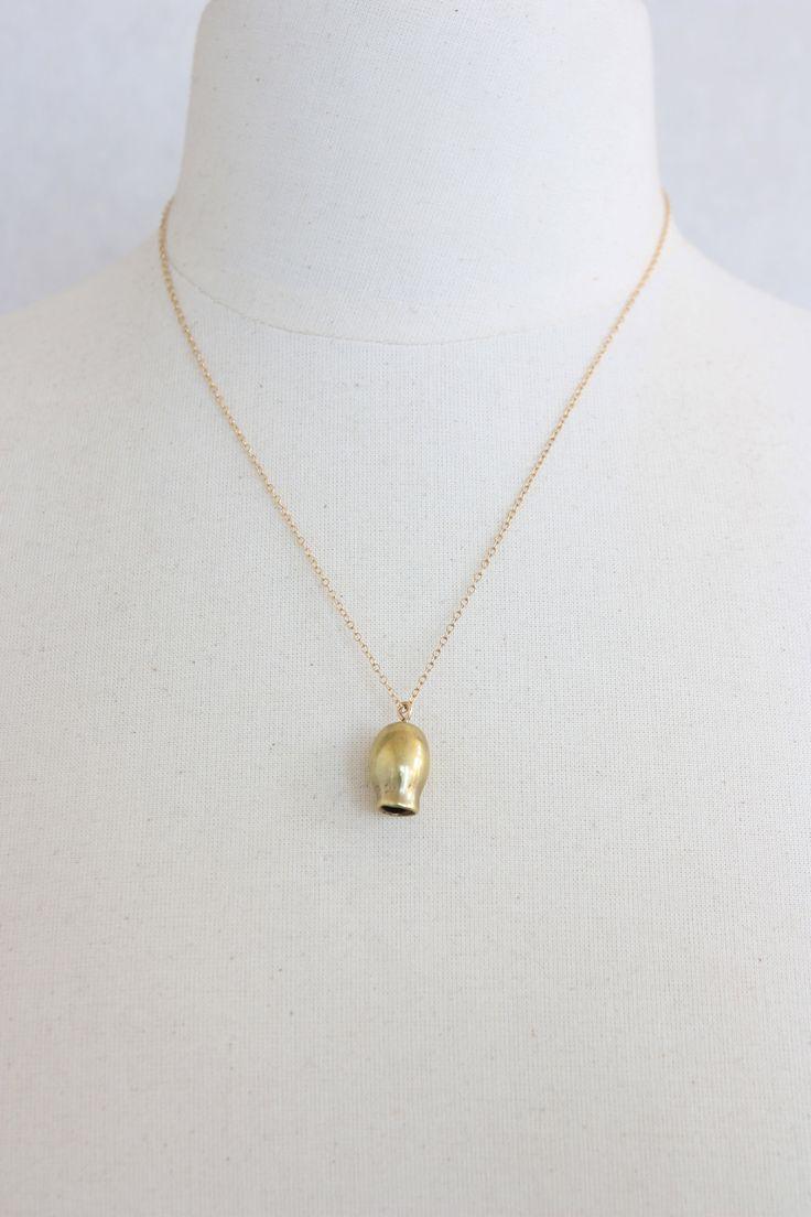 Dinosaur Designs for Romance Was Born - Brass Gumnut Necklace