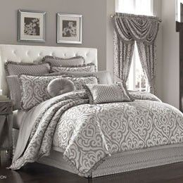 Silver Bedding, Silver Comforters, Comforter Sets, Bedding Sets & Bed In A Bag: The Home Decorating Company