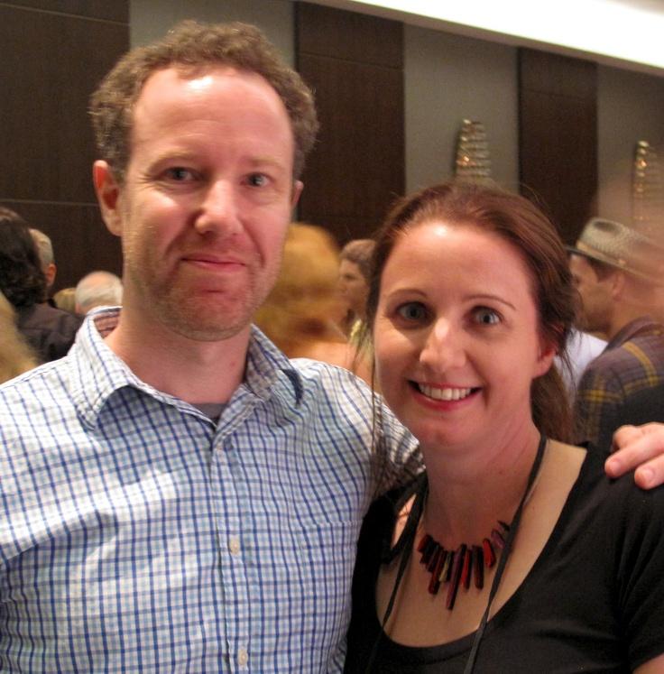 Joanna Penn with Dan Blank from WeGrowMedia.com at Thrillerfest 2012 in New York