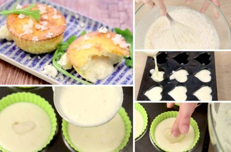 Muffins de chou fleur au cœur coulant