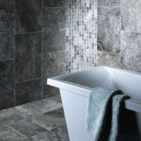 Silver Grey Travertine 61x40.6cm Found my bathroom tiles!