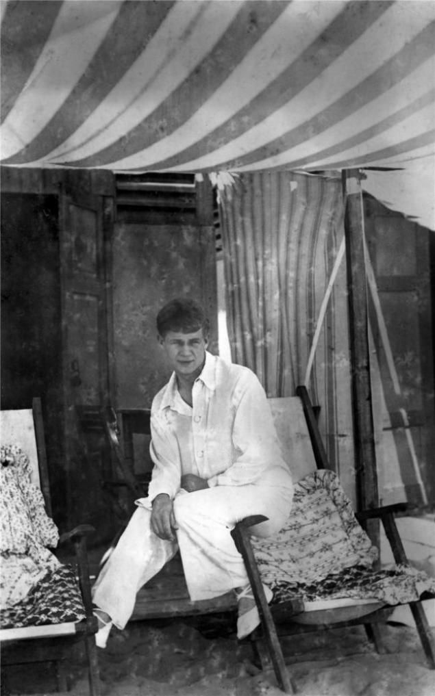 Sergei Yesenin on vacation in Italy.