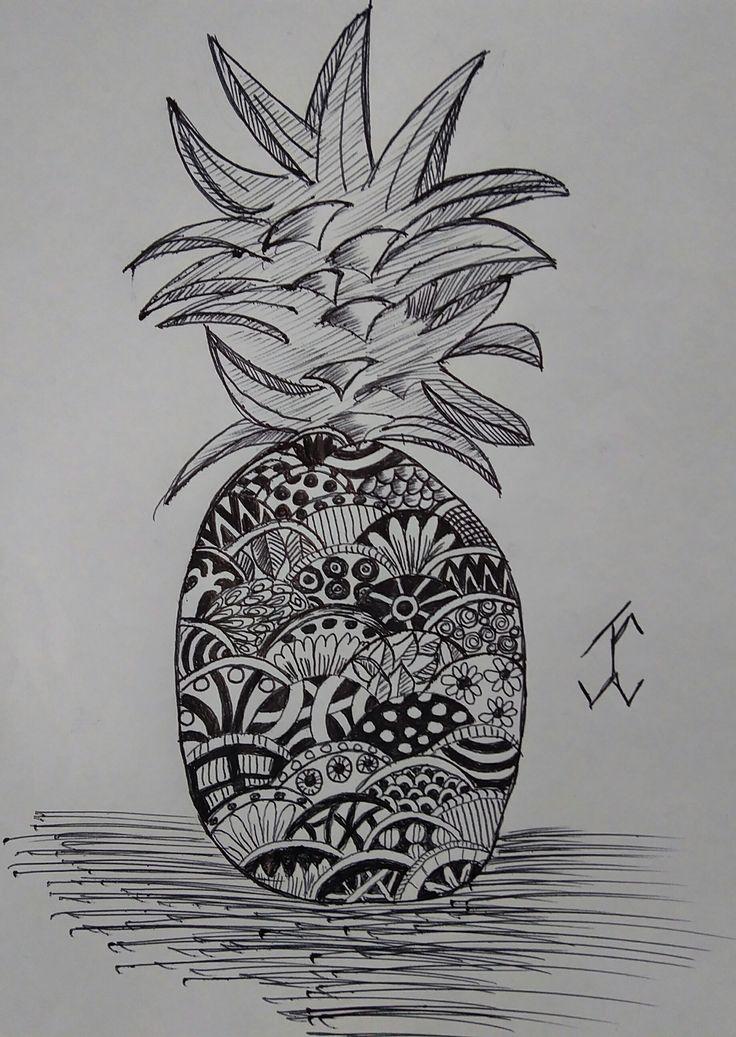 ShapePineapple #followewrs #instagram  #zentangle #3d #drawing #draw #pen #art  #ink #inkwork #zentangles #zentangleart #shape #shapes #mandala #mandalas