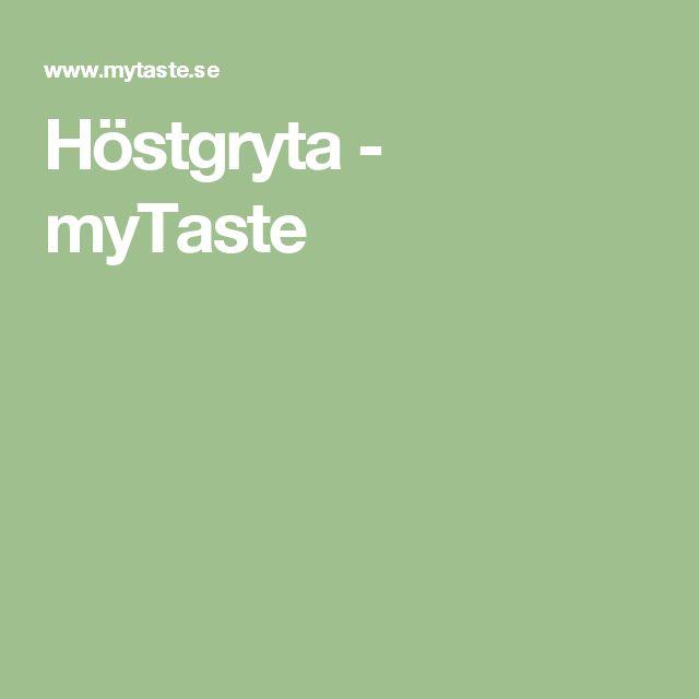 Höstgryta - myTaste